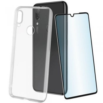 Funda Muvit Cristal Soft transparente + Protector de pantalla Cristal templado para Xiaomi Redmi Note 7