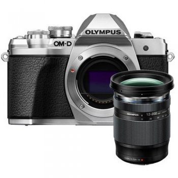 Cámara EVIL Olympus E-M10 Mark III 12-200 mm Plata