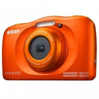Cámara compacta Nikon Coolpix W150 Naranja + Mochila Blanco Kit