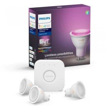 Kit de inicio iluminación inteligente Philips Hue GU10