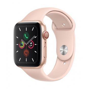 Apple Watch S5 44 mm LTE Caja de aluminio en oro y Correa deportiva Rosa arena