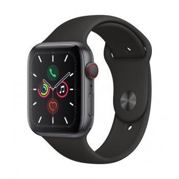 Apple Watch S5 44 mm LTE Caja de aluminio en gris espacial y Correa deportiva Negro