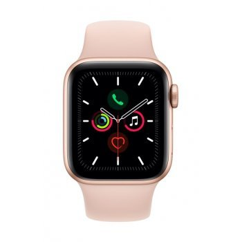 Apple Watch S5 40 mm GPS Caja de aluminio en oro y Correa deportiva Rosa arena