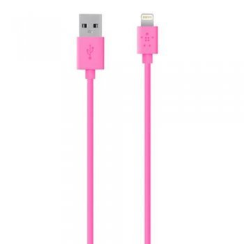 Cable Belkin Mixit Lightning a USB 1,2m Rosa