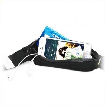 MCA Cinturón Elástico con Bolsillo Negro