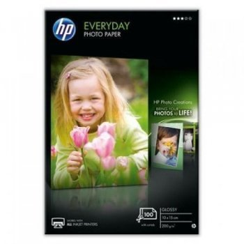 HP Papel Fotográfico Brillante Everyday - 100 hojas/10 x 15 cm