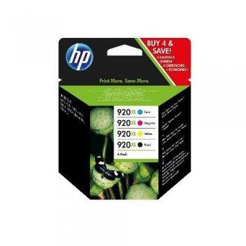Pack 4 cartuchos Tinta HP 920XL Negro + Color (CB435A)