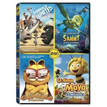 Pack Animales: Las Aventuras De Sammy + Animals United + Maya 3D + Garfield