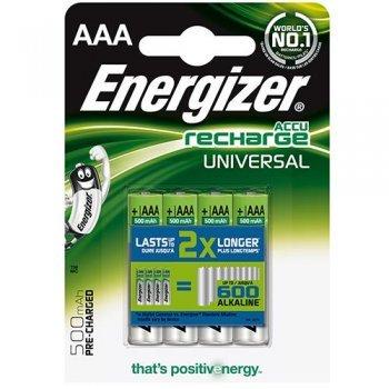 Energizer Pilas recargables 4 x AAA 500 Mah